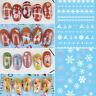 Nail Art 3D Nail Sticker Christmas Series Nail Decals Fairy Tales DIY Transfer