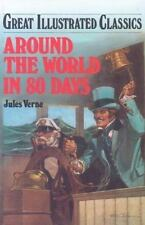 Great Illustrated Classics  Around the World in 80 Days Great Hardcover Brand NE