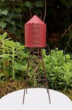 Miniature Dollhouse FAIRY GARDEN ~ Mini FARM Red Metal Water Tower ~ NEW