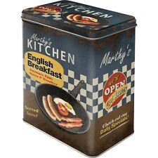 Vorratsdose Blechdose English Breakfast 3l Fassungsvermögen Retro Style