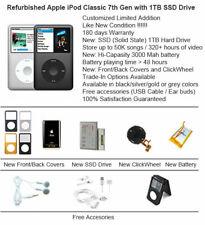 1TB SSD Custom Refurbished Apple iPod Classic 7th Gen Mint Condition