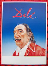 Salvador Dali Porträt von Jörn Zimmermann Postkarte