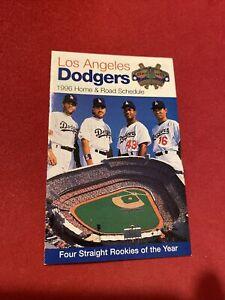 1996 Dodgers pocket schedule  Piazza, Karros, Mondesi and Nomo cover