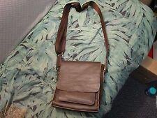 GEAR BAND Dark Brown Leather Messenger Shoulder Bag