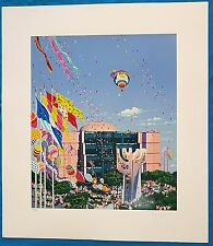 "Very Rare Hiro Yamagata ""Simon Wiesenthal Center"" LE Original Serigraph Signed"