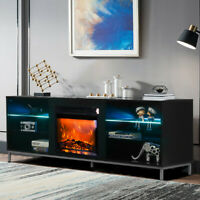 1500W Electric Fireplace TV Stand Storage Television Console Shelves for 70'' TV
