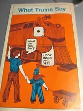 What Trains Say with Railroad Slang 1972 Association of American RR