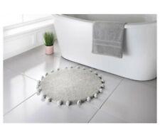 Pom Pom Supersoft Bath Mat Kids Room Insta Boho style Blush dusty grey