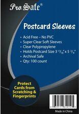 2500 / 2,500 PRO SAFE Postcard Sleeves Archival Safe (25 Packs) Acid Free No PVC