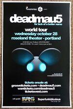 DEADMAU5 2009 Gig POSTER Portland Oregon Concert