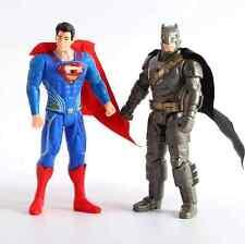 2pcs/lot Superman VS Batman Dawn of Justice Action Figures PVC Figure Toys 16cm
