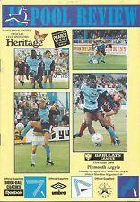 Football Programme - Hartlepool United v Plymouth Argyle - Div 2 - 5/4/1993