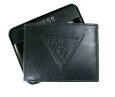 Guess Mens Leather Wallet Bifold 31GO220016 Black NEW NIB $42