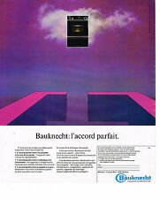 PUBLICITE ADVERTISING 025  1977  BAUKNECHT   four encastrable