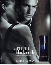 Publicité advertising 118  2005   parfum   homme par  Armani Black Code