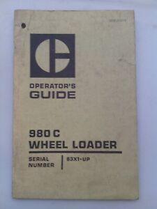 Caterpillar 980C wheel loader operators guide. Genuine Cat book.