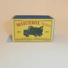Matchbox Lesney 64 a Scammel Breakdown Truck empty Repro D style Box