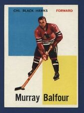 1960-61 Topps MURRAY BALFOUR #12 EX/EX+ Chicago BLACK HAWKS !!