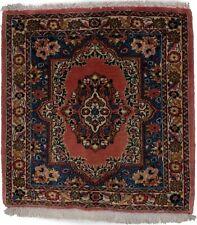 Small Square Rug Handmade 2'5X2'8 Floral Classic Design Oriental Decor Carpet