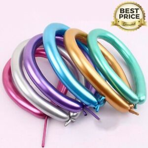 100 x Assorted Modelling Ballons Chrome Latex Professional Twisting Kids Party