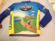 New mens zoca Odwalla full zip cycling bicycling jacket med made in usa