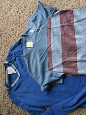 NEW LOT/2 AMERICAN RAG CREW T SHIRT & BLUE V-NECK SWEATER MENS M FREE SHIP