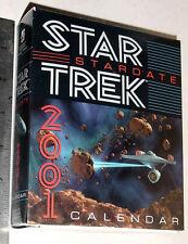 STAR TREK 2001 DESK CALENDAR UNUSED