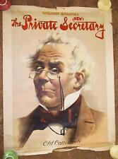 "1895 ""The Private Secretary"" Theater Poster- Original Lithograph!"