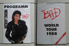 MICHAEL JACKSON programm BAD world tour 1988