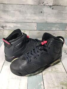 Nike Air Jordan VI 6 Retro GG GS Size 5.5Y Black Hyper Grey Pink 543390-008