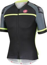 Castelli Volo Men's Cycling Jersey Size Large Black/Neon