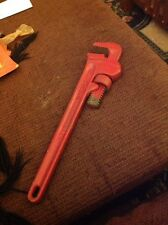 """Used RIGID Heavy Duty 14"""" Pipe Wrench The Ridge Tool Co Elyria, Ohio Made in USA"""