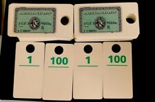 Anerican Express Green Vintage Coat Check Tags