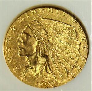 1928 $2.50 Quarter Eagle, MS62 NGC. CAC.