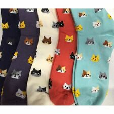 Girl Women Casual Cotton Lovely Cat Socks Cartoon Cute Animal Pattern