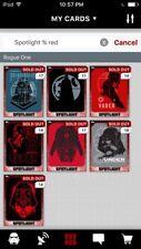 Topps Star Wars Digital Card Trader 7 Card Red Spotlight Darth Vader Insert Set