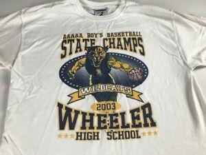 Wheeler T-Shirt Adult SZ S/M Wildcats 2003 Basketball Champs Georgia High School