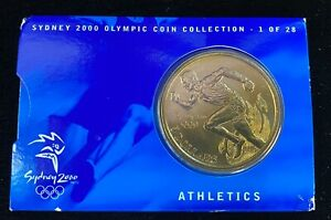 2000 $5 Sydney Olympic Coin Collection - 1 of 28 Athletics -Bronze Medal