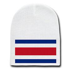 New listing Costa Rica World Country National Flag White Beanie Skull Cap Hat Winter New