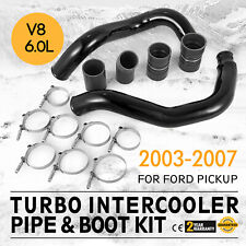 BLACK Turbo Intercooler Pipe Boot Kit CAC Tubes for 03-07 Ford 6.0L Powerstroke