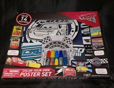 Cars 3 color your own poster set with markers