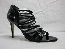 Enzo Angiolini Size 8 M Mochacita Black Open Toe Heels New Womens Shoes NWOB