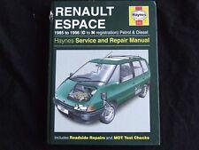 RENAULT ESPACE PETROL & DIESEL 1985 ~ 1996 HAYNES SERVICE & REPAIR MANUAL 3197