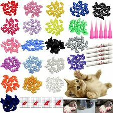 New listing 100 Pcs Soft Pet Cat Nail Caps Cats Paws Grooming Nail Claws Caps Covers