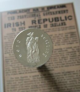 Ireland PROOF Ten Shillings 1966 Pearse Easter Rising Commemorative Silver Coin