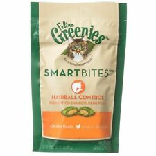 LM Greenies SmartBites Hairball Control Chicken Flavor Cat Treats 2.1 oz