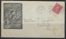 US 1916 Rome Ny Harnais Gazette la Publicité Housse & Circulaire