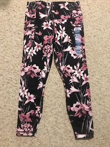 Yogalicious Women's High Waist Soft Printed Ankle Legging, Pink , Large