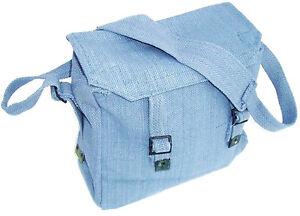 ARMY HAVERSACK heavy duty cotton canvas shoulder bag work uni satchel RAF blue