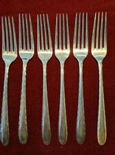 "Towle Six Sterling 7 3/8"" Forks: Silver Flutes Pattern No Monogram"